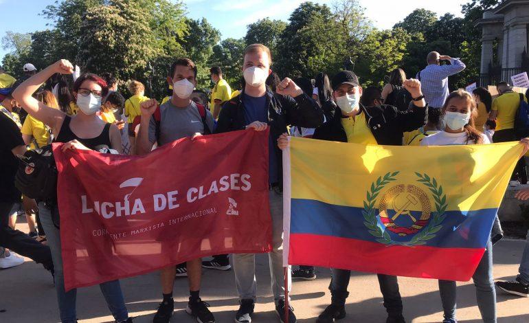 Concentraciones de solidaridad en España con el pueblo Colombiano