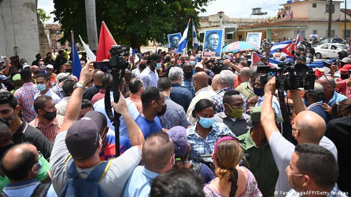 Protestas en Cuba: ¡defender la revolución!